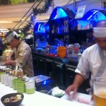 Sushi chefs hard at work in Bermuda.