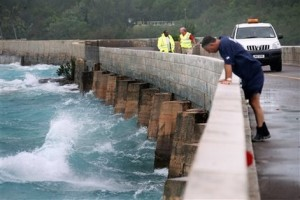 Bermuda Works and Engineering inspects the Causeway.