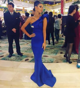 Alyssa Rose competes for Miss World in China.