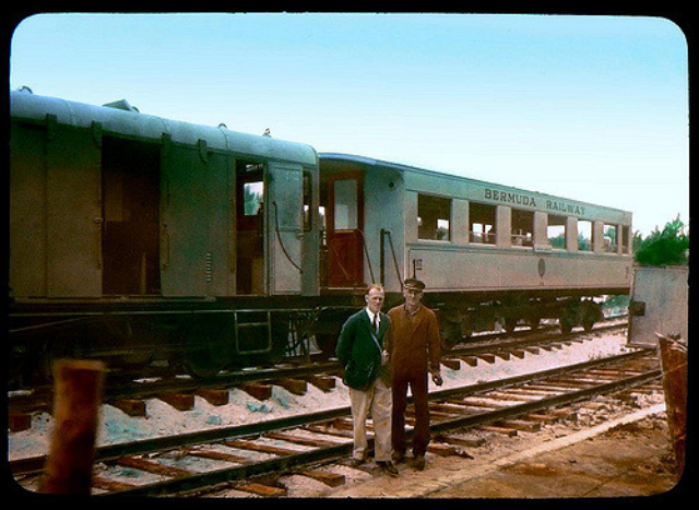 THE OLD BERMUDA RAILWAY -- Engineer and Conductor
