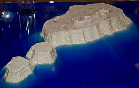 Model of the Bermuda Volcano.