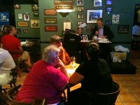 Mike Bishop in the Thursday Evening Trivia Game at The Swizzle Inn