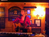 Alice Stewart on stage on The Swizzle Inn