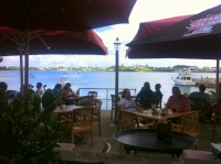 The wharf at The Tavern by the Sea in St George's, Bermuda