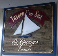 A photo of the sign at The Tavern by the Sea in St George's, Bermuda