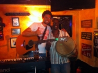 Kevin and Funky Flea at The Swizzle Inn in Bailey's Bay, Bermuda