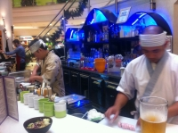 Sammy and Allan at Beluga Bar making sushi.  Thanks, guys!
