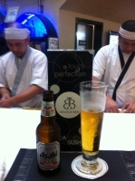 Allan and Allen and my Asahi beer at Beluga Bar