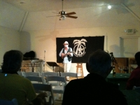Mike Hind at Bermuda Folk Club at Spanish Point Boat Club