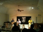Jeffrey Marshal, Michael Cacy and Neil Burnie at Bermuda Folk Club at Spanish Point Boat Club