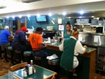 The lunch counter at The Spot Restaurant in Hamilton, Bermuda